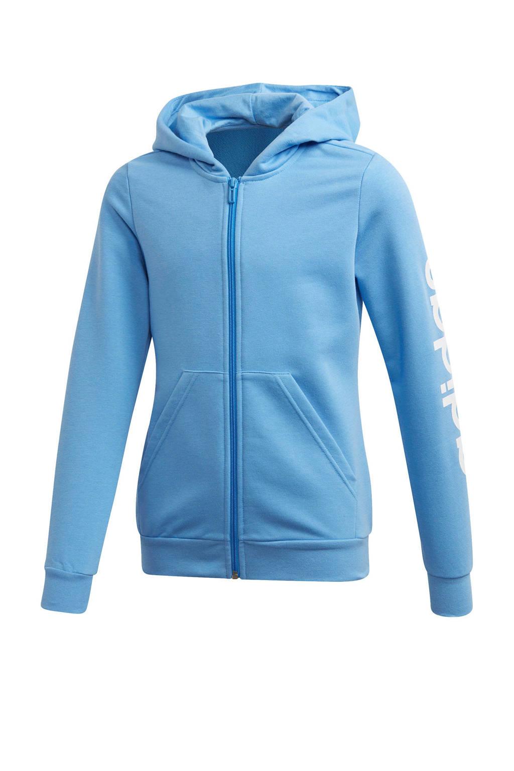 adidas sportvest lichtblauw, Lichtblauw/wit