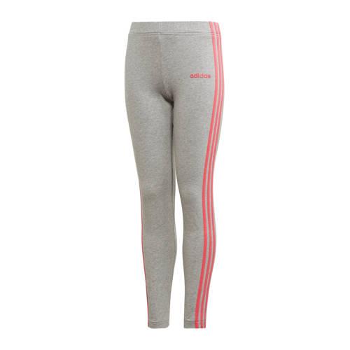 adidas performance sportbroek grijs-roze