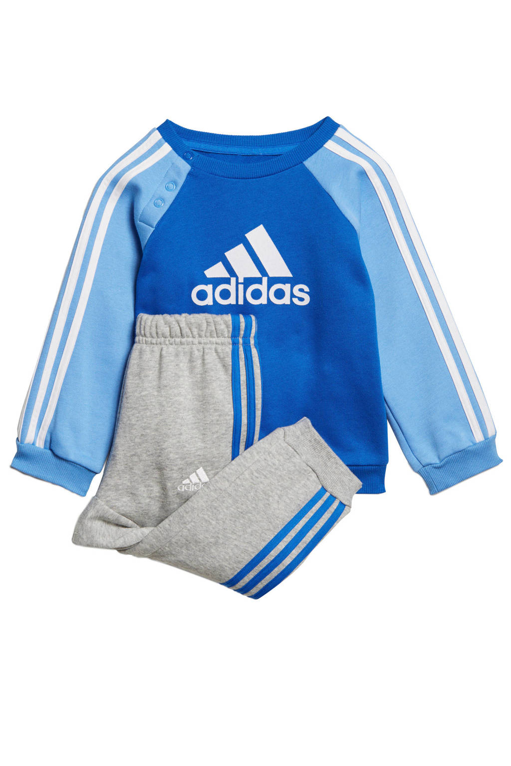 adidas   joggingpak blauw/grijs, Blauw/grijs/wit