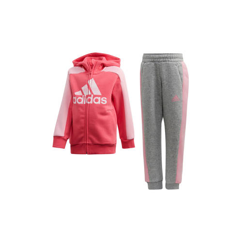 adidas performance trainingspak roze-grijs