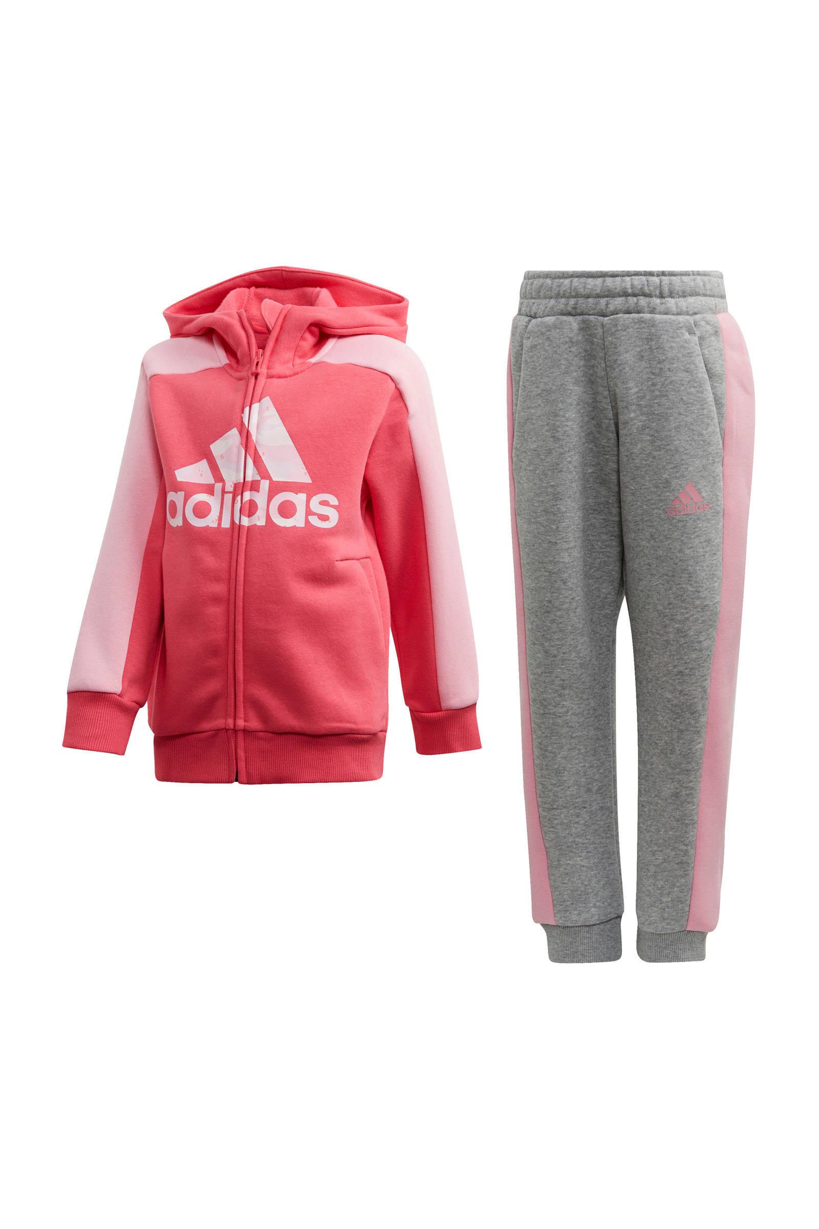 adidas Performance joggingpak rozegrijs   wehkamp