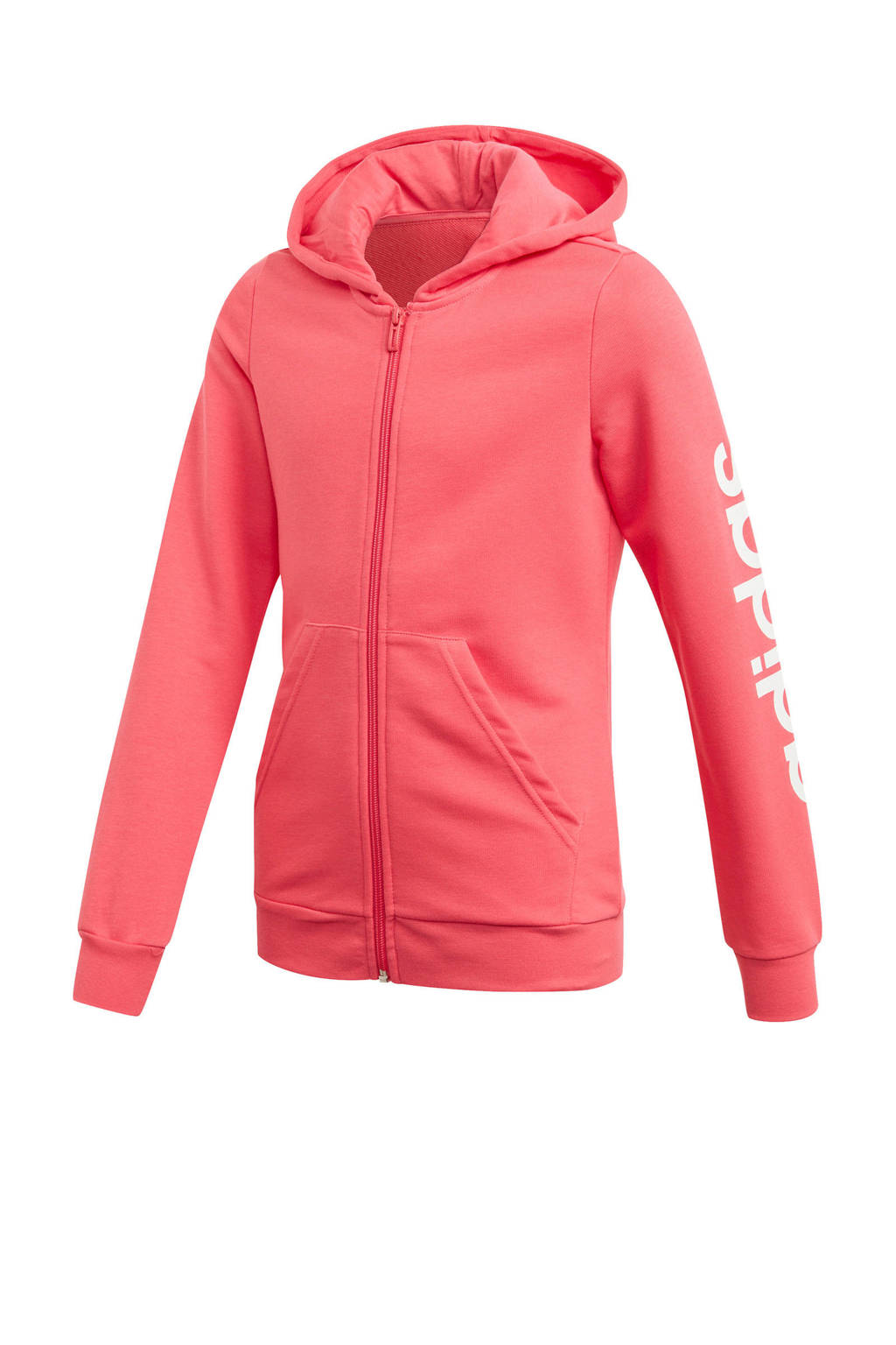adidas sportvest roze, Roze/wit