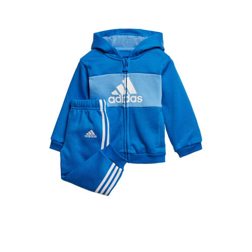 adidas performance trainingspak blauw
