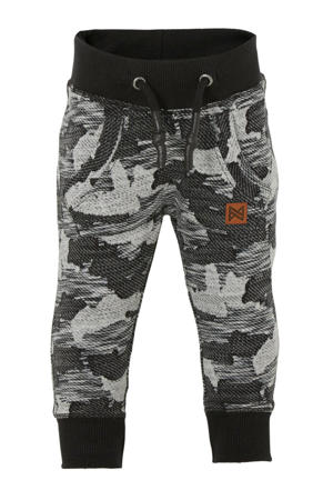 regular fit joggingbroek met camouflageprint zwart