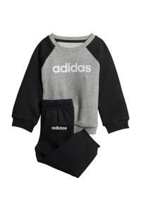adidas Performance   joggingpak grijs/zwart, Grijs melange/zwart, Jongens