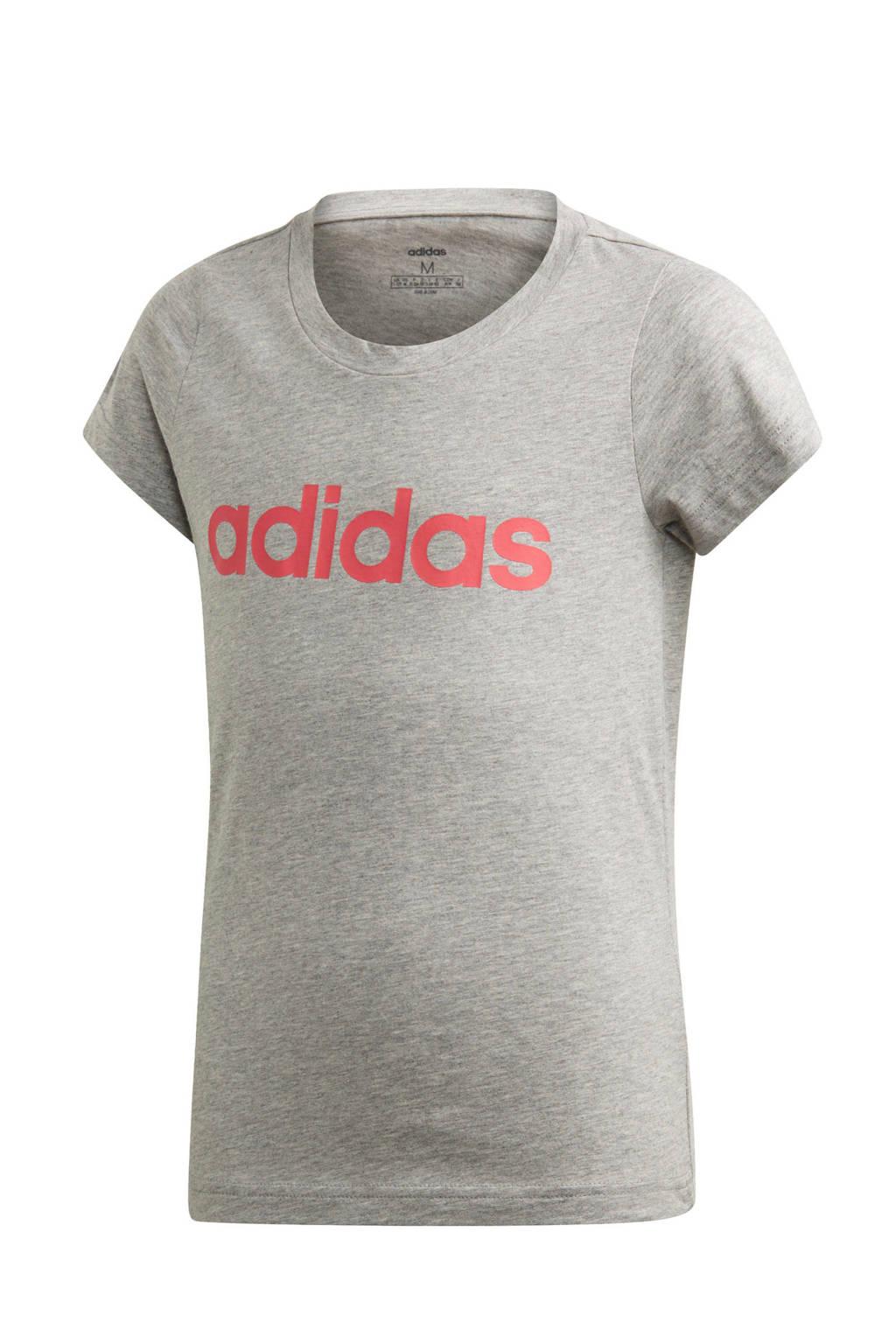 adidas Performance sport T-shirt grijs, Grijs/roze