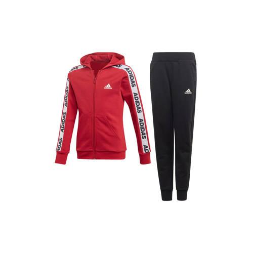 adidas performance trainingspak rood-zwart