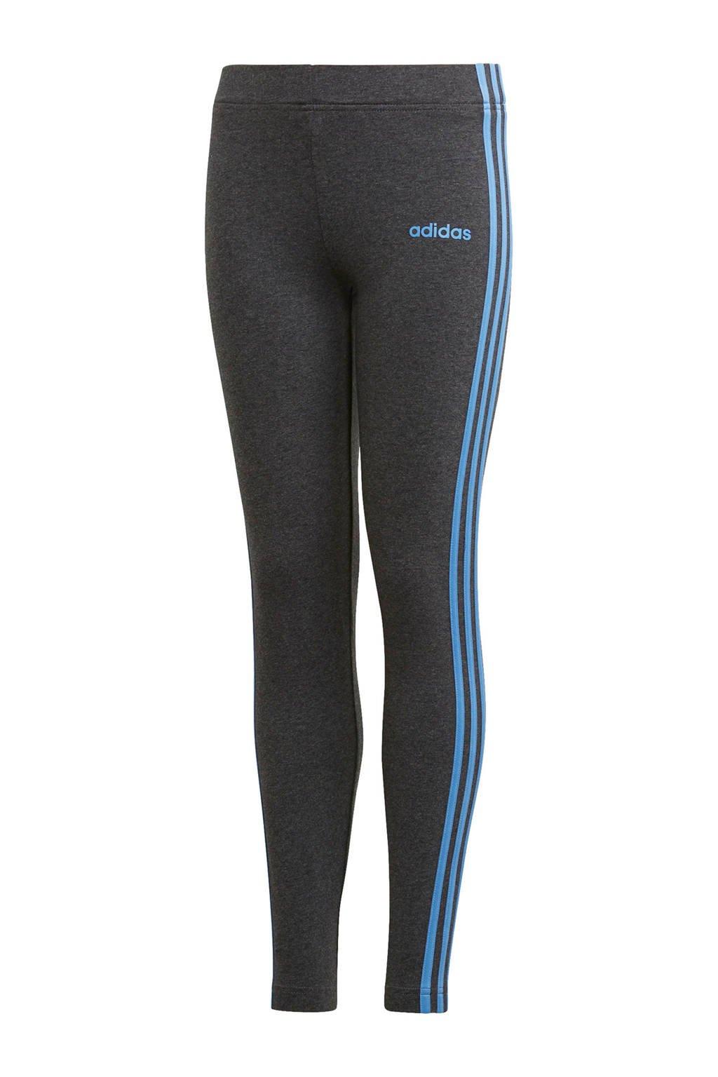 adidas performance sportbroek antraciet, Antraciet/blauw