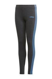 adidas sportbroek antraciet, Antraciet/blauw