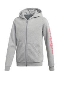 adidas Performance sportvest grijs melange, Grijs melange/roze