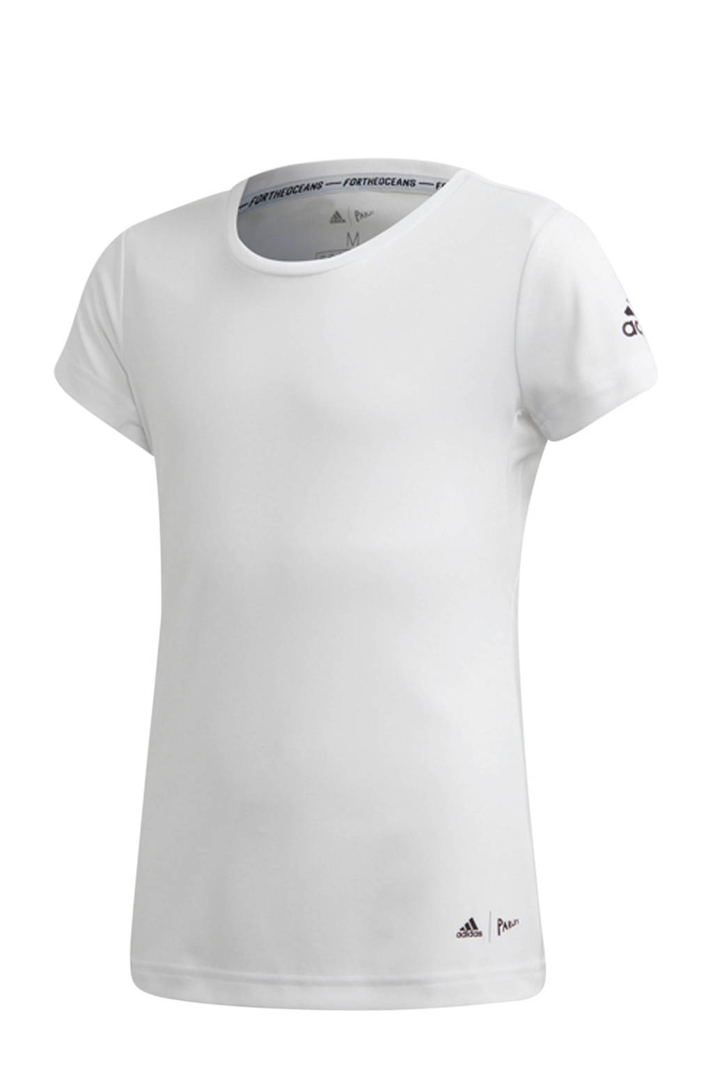 adidas Parley sport T-shirt wit, Wit