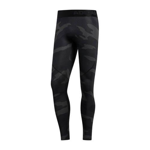 adidas performance compressie sportbroek grijs camouflage