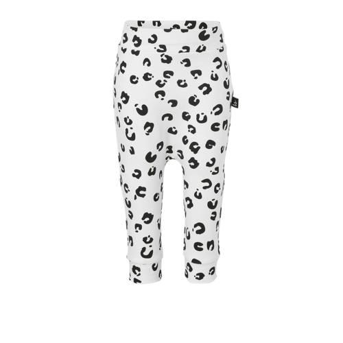 Babystyling broek met panterprint wit