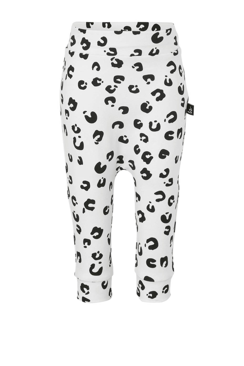 Babystyling broek met panterprint wit, Wit