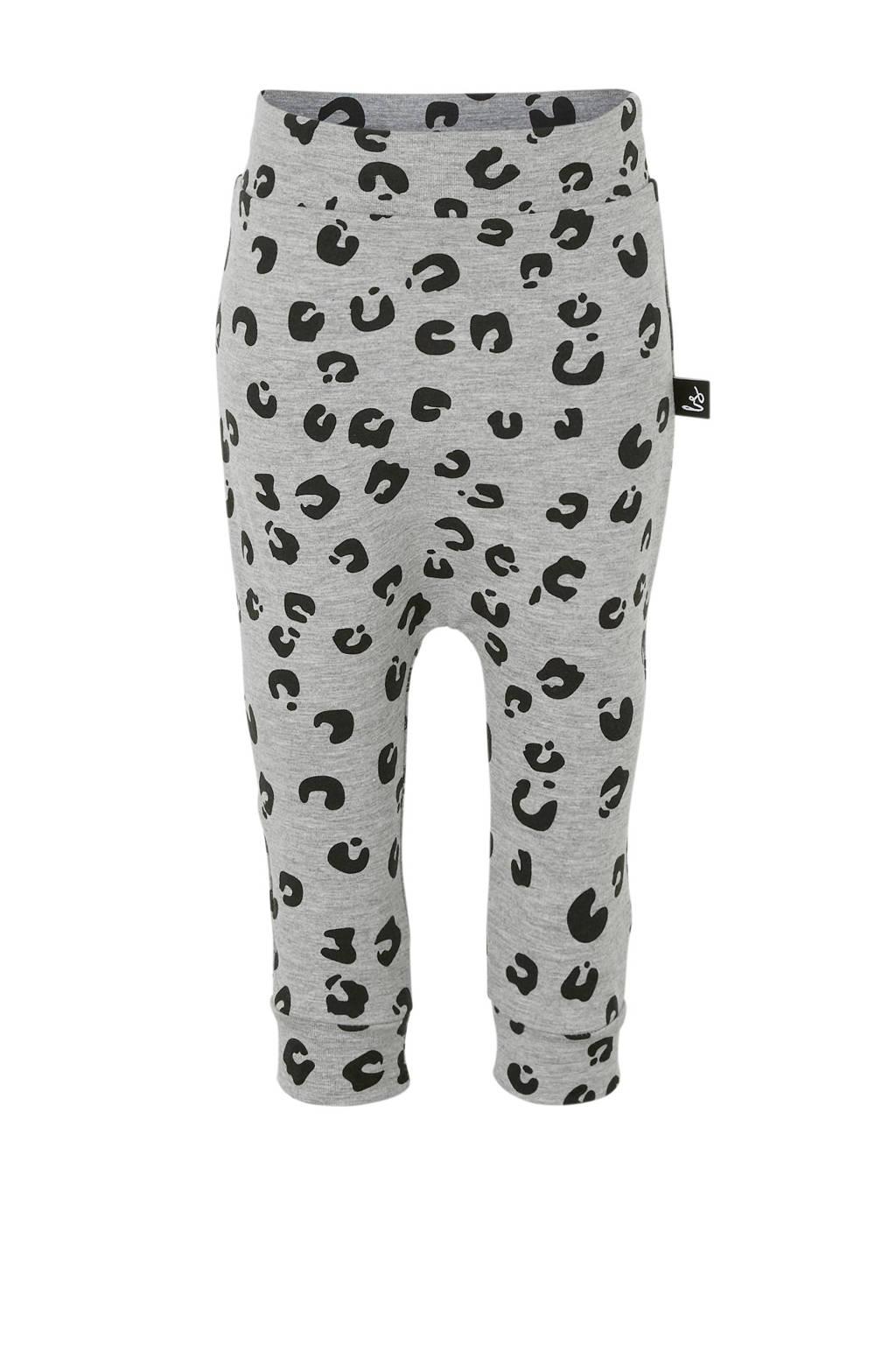 Babystyling broek met panterprint grijs, Grijs