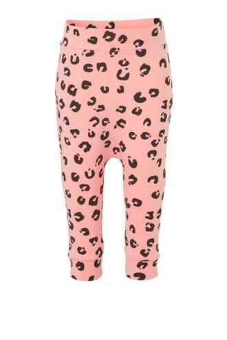 broek met panterprint roze