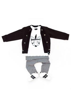 gestreepte broek zwart/wit