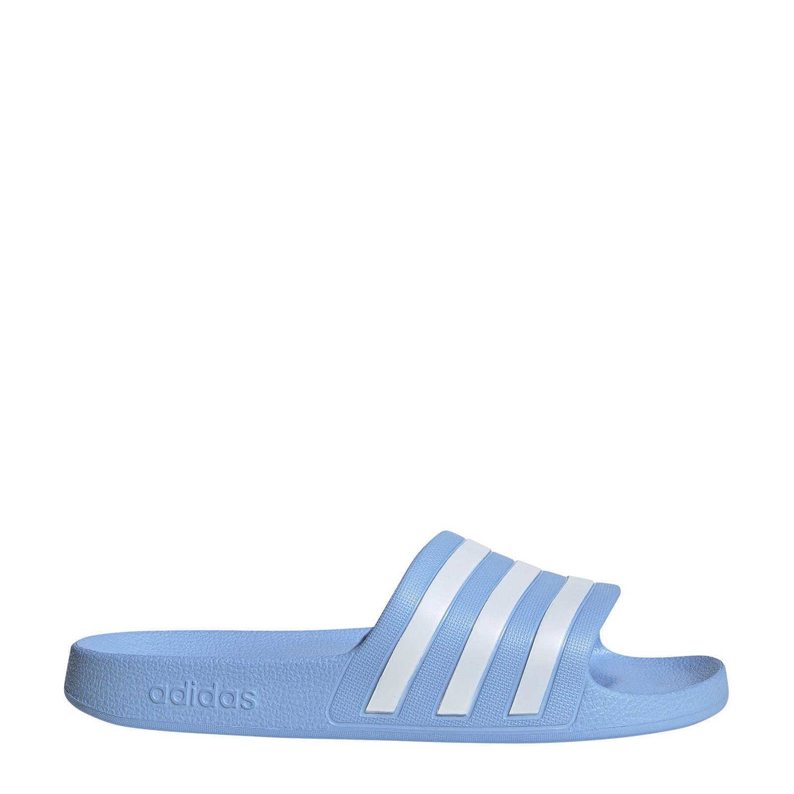 adidas performance adilette aqua badslippers lichtblauw ...