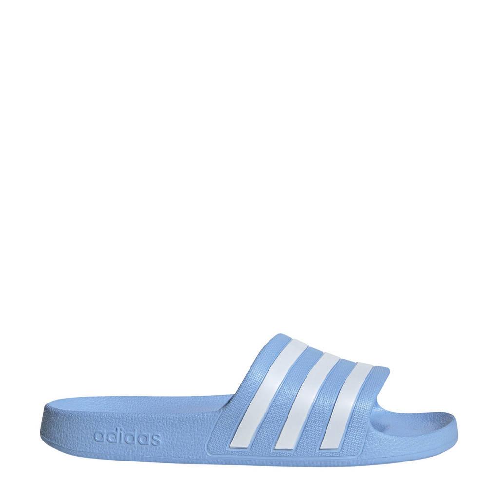 adidas Performance   adilette aqua badslippers lichtblauw, Lichtblauw/wit, Unisex