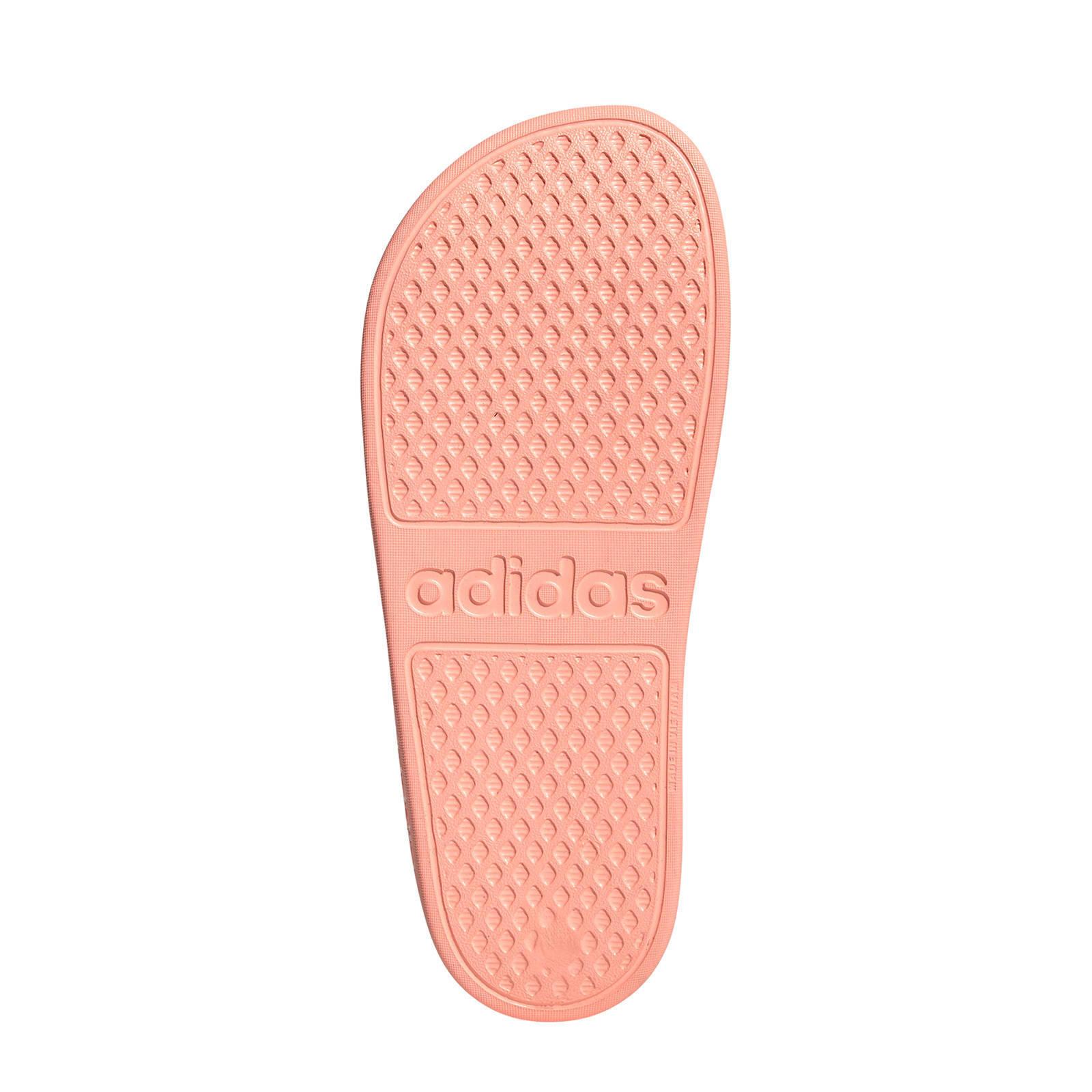 adidas performance adilette aqua badslippers oudroze | wehkamp