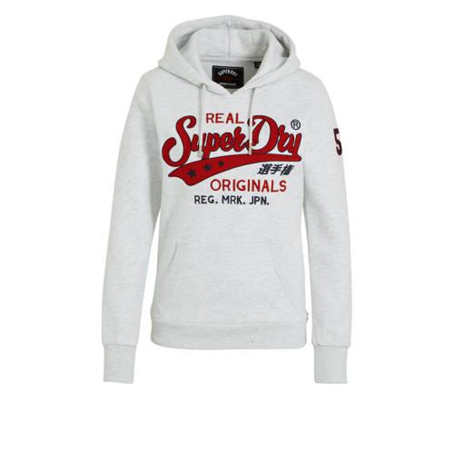 Superdry hoodie met printopdruk grijs