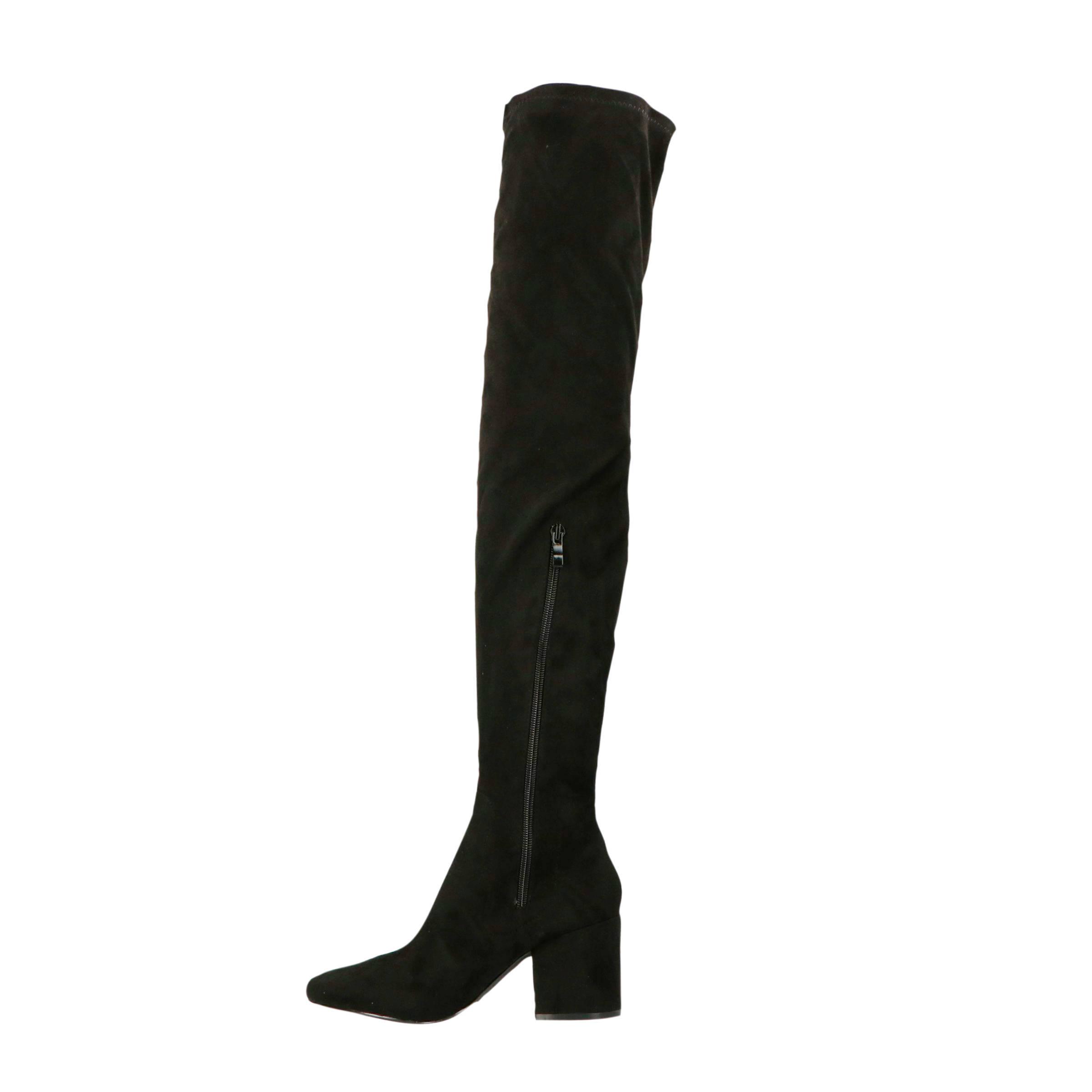 Raid overknee laarzen zwart | wehkamp