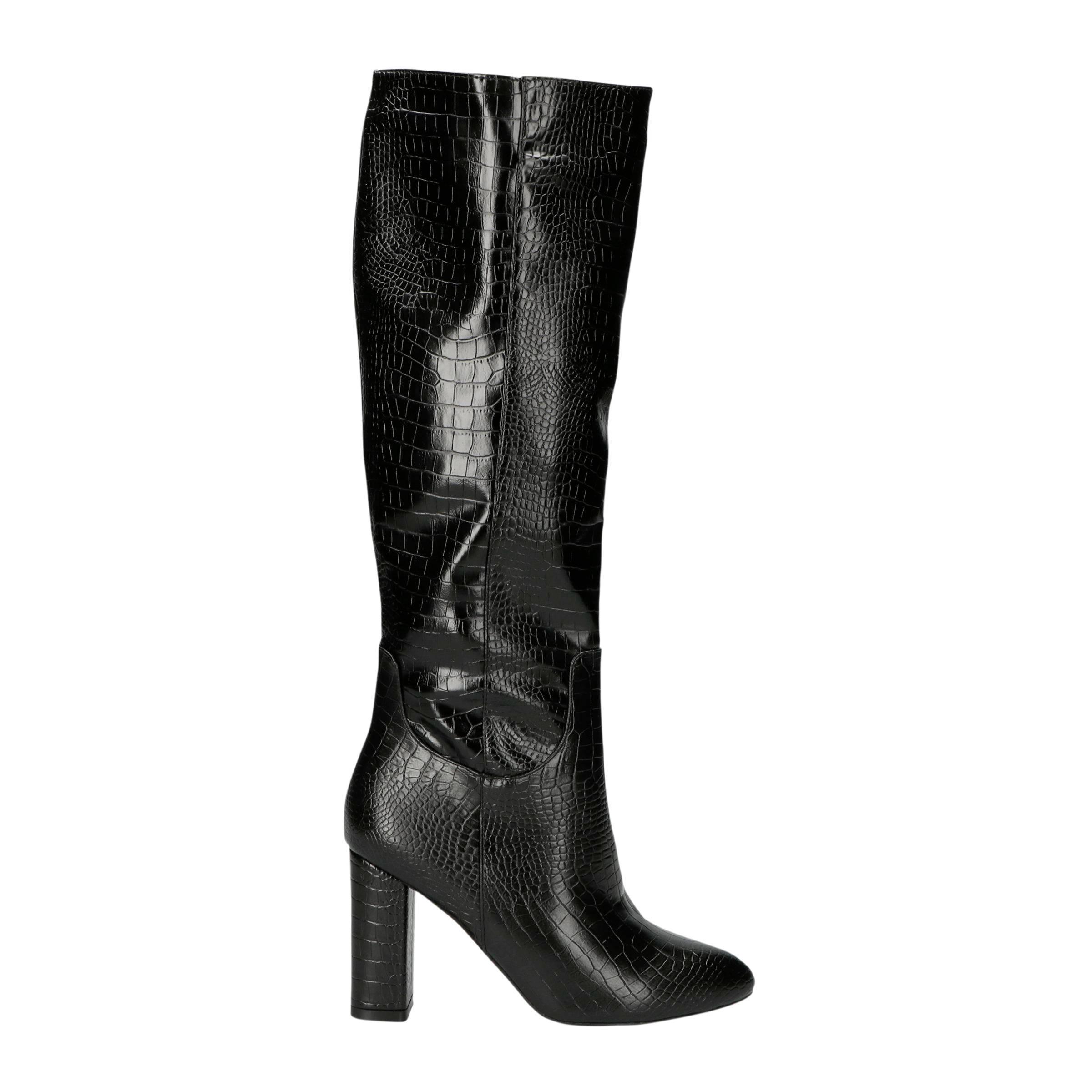Marion 1 laarzen crocoprint zwart