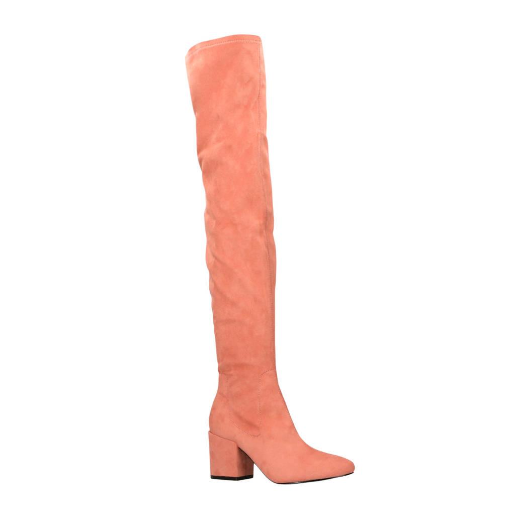 Raid   overknee laarzen roze, Oudroze