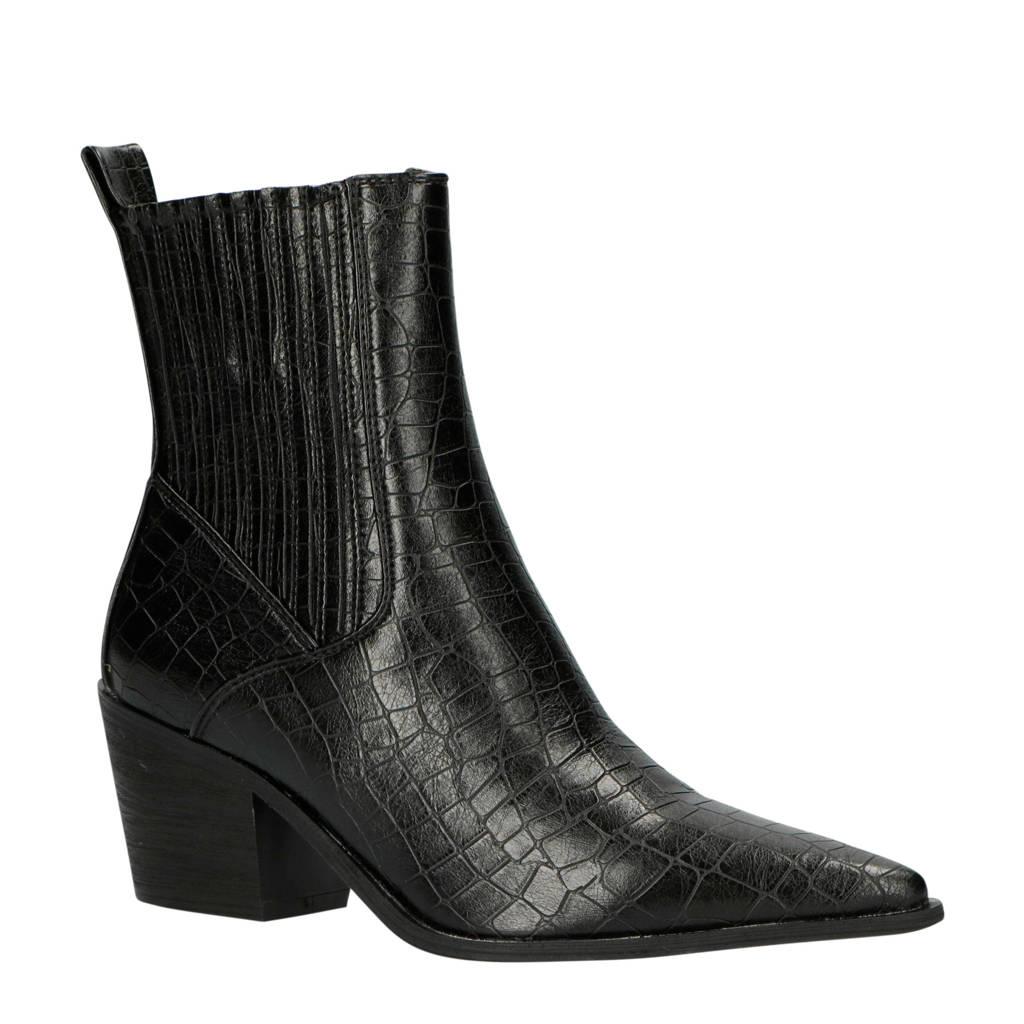 Raid   Rocco-1 chelsea boots zwart/crocoprint, Zwart