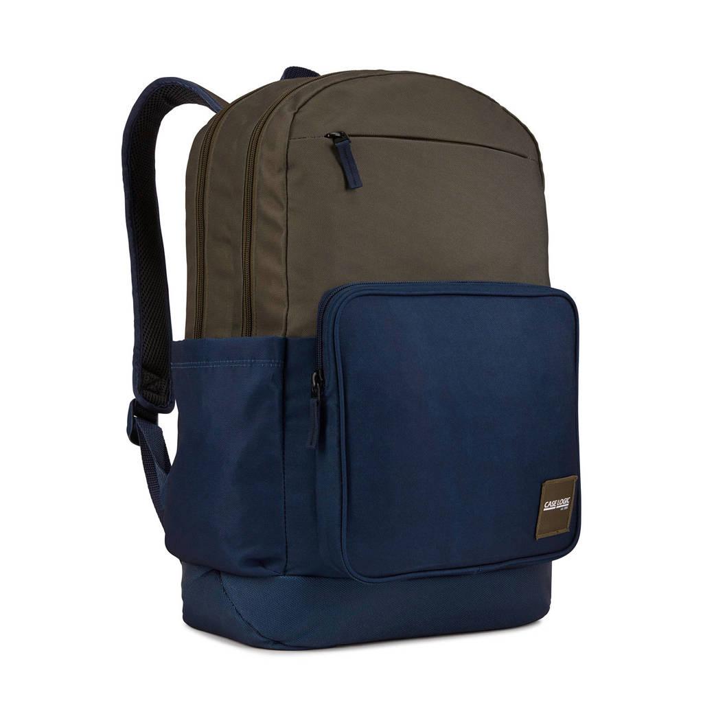 Case Logic  15,6 inch Campus Query laptoptas rugzak, Olijfgroen/blauw