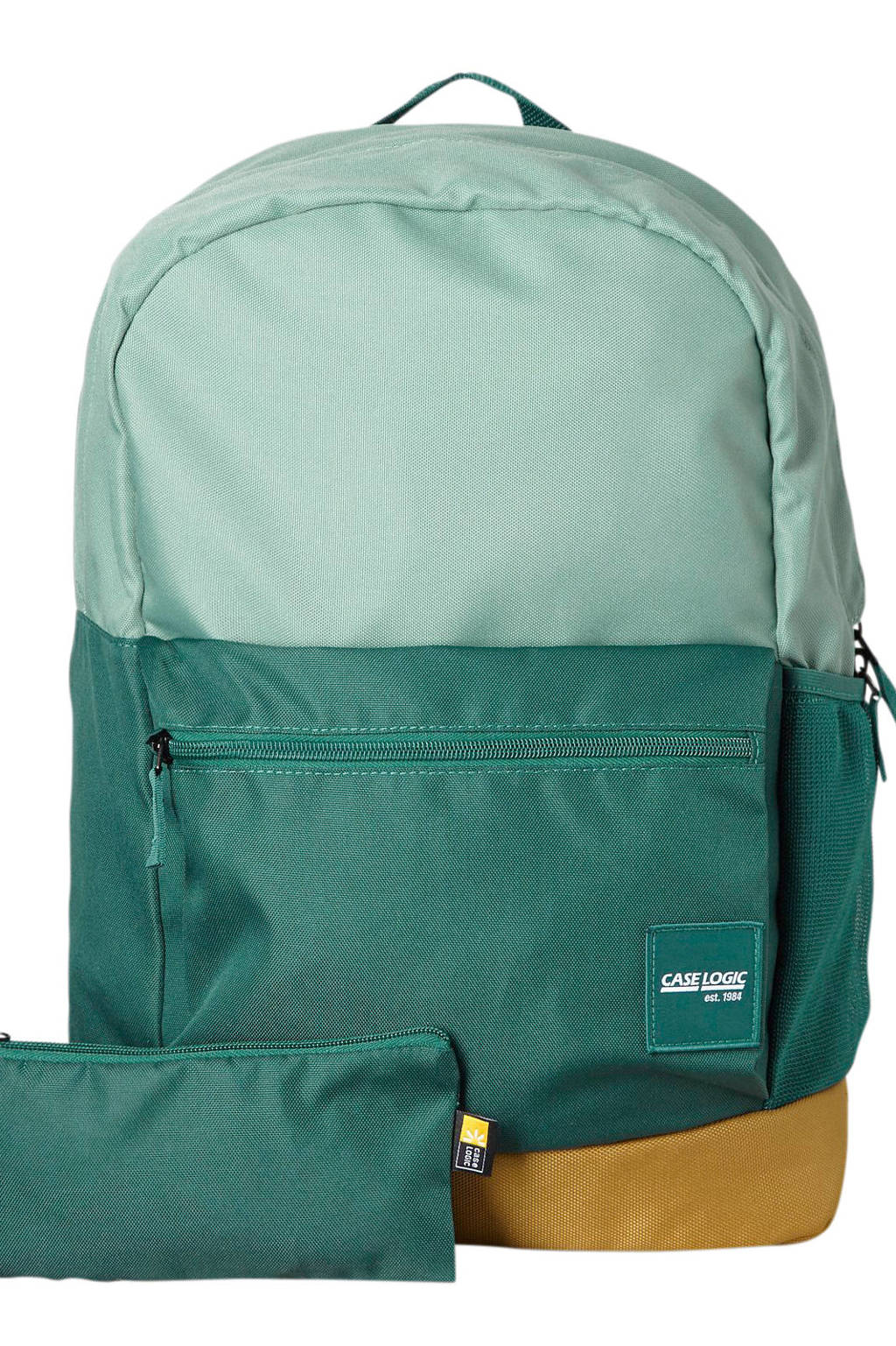 Case Logic  15,6 inch Campus Commence laptoptas rugzak, Groen/mintgroen/beige
