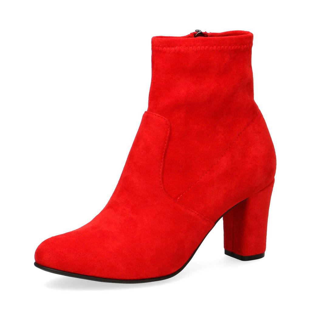 Caprice   Britt enkellaarzen rood, Rood