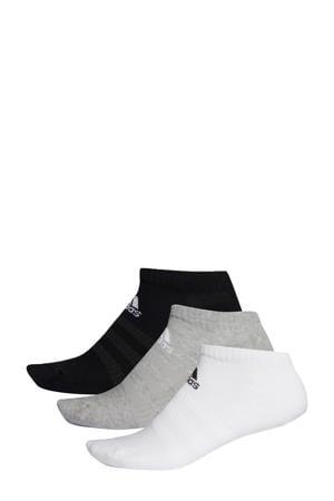 sportsokken - set van 3 zwart/grijs/wit