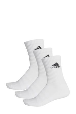 sportsokken (set van 3) wit