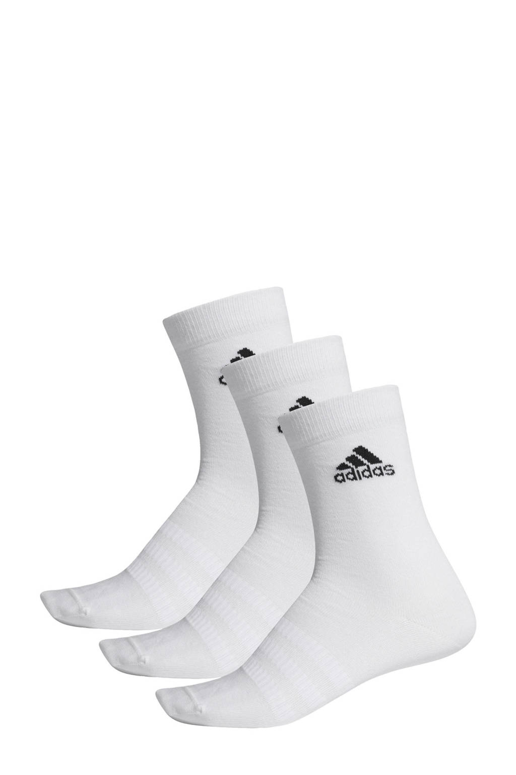 adidas Performance   sportsokken (set van 3) wit, Wit