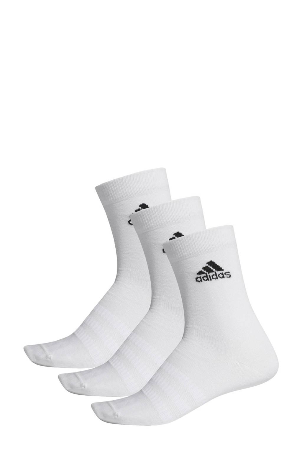 adidas   sportsokken (set van 3) wit, Wit