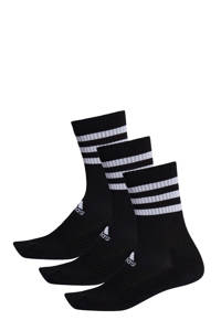 adidas Performance   sportsokken  - set van 3 wit/zwart, Zwart/wit