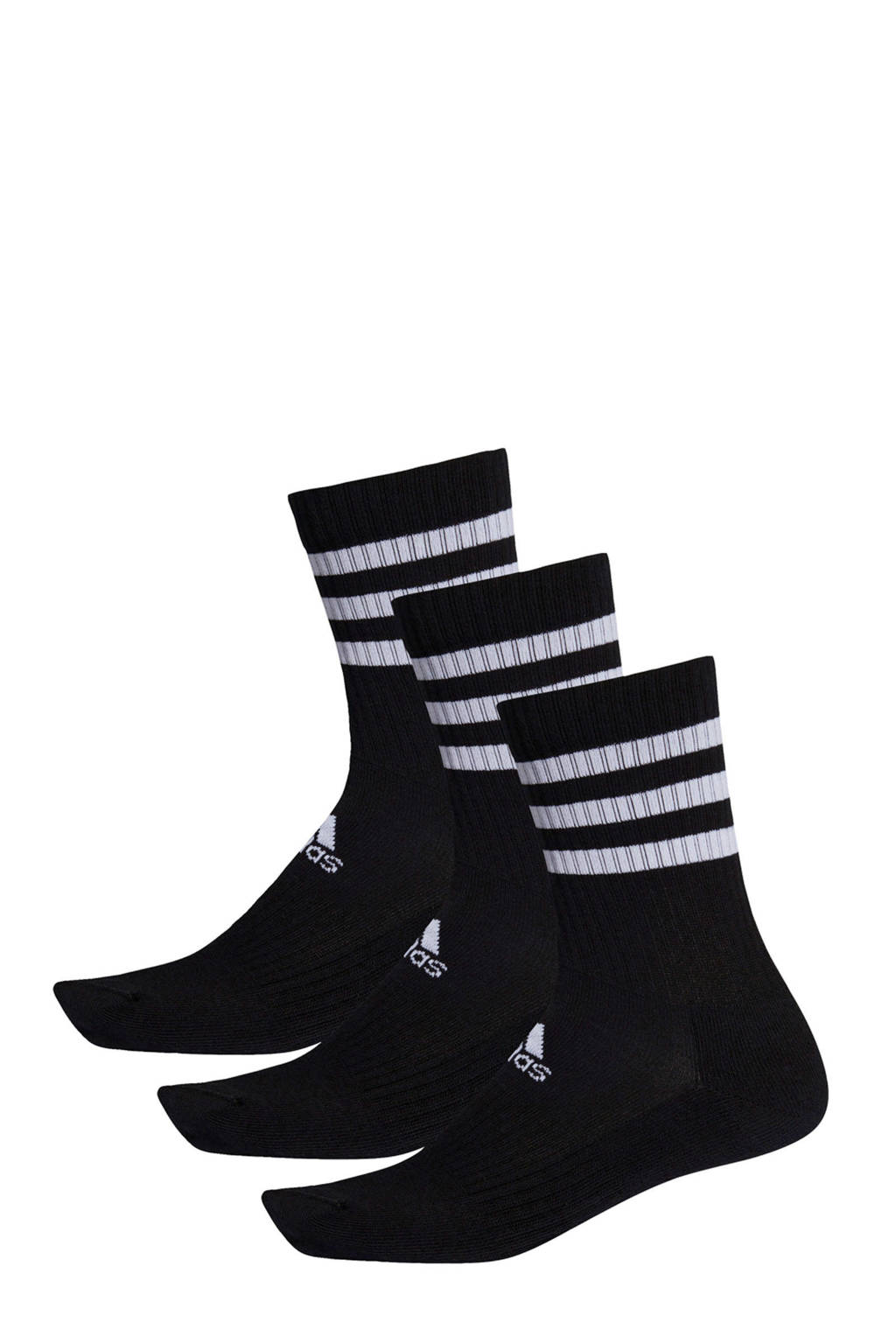 adidas Performance   sportsokken wit/zwart (set van 3), Zwart/wit