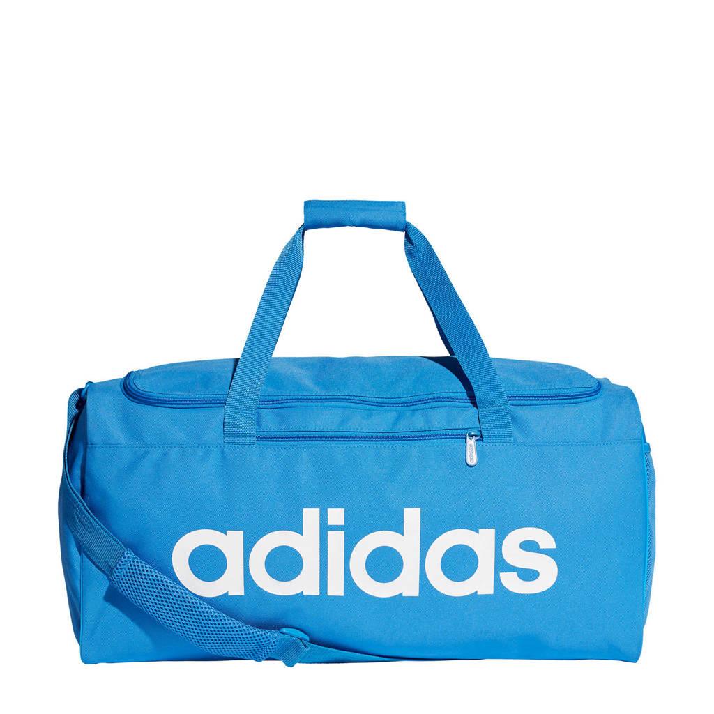 adidas performance   sporttas Core Duf M blauw/wit, Blauw/wit