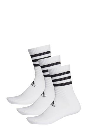 sportsokken - set van 3 wit/zwart
