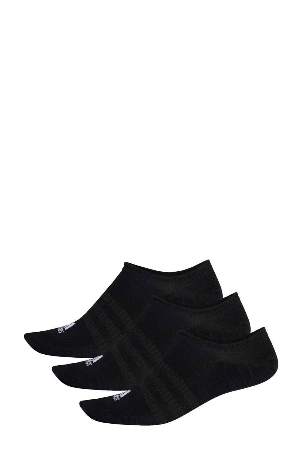 adidas Performance No Show sportsokken - set van 3 zwart, Zwart