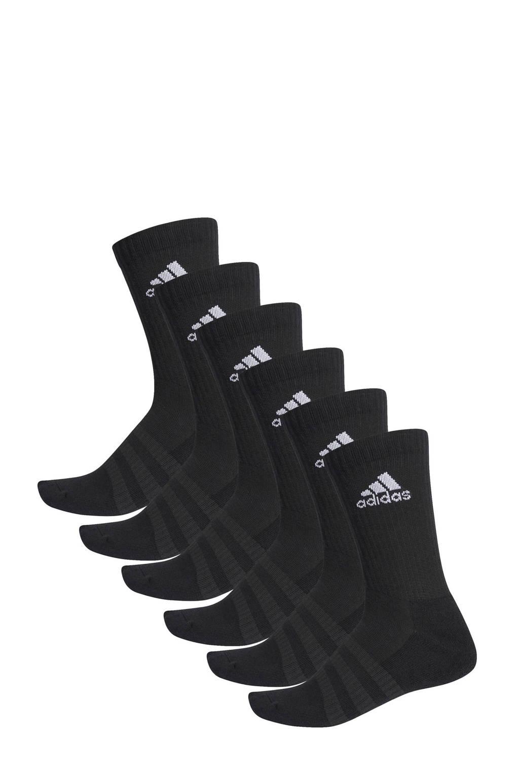 adidas Performance   sportsokken - set van 6 zwart, Zwart