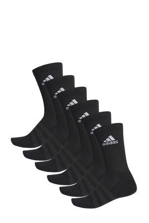sportsokken - set van 6 zwart