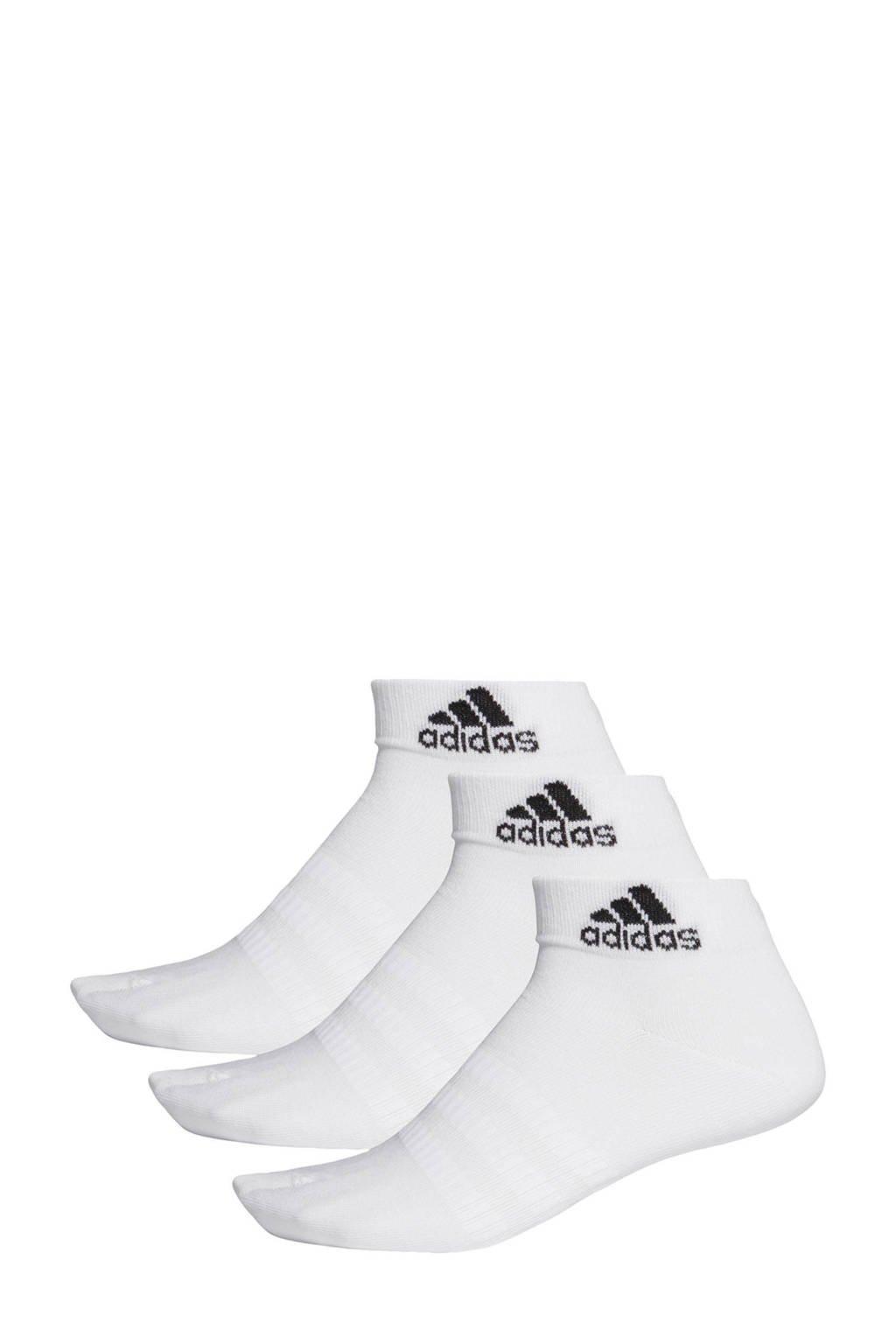 adidas Performance   sportsokken - set van 3 wit, Wit