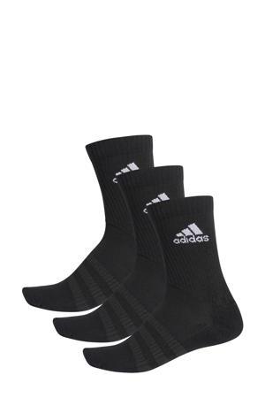 sportsokken (set van 3) zwart