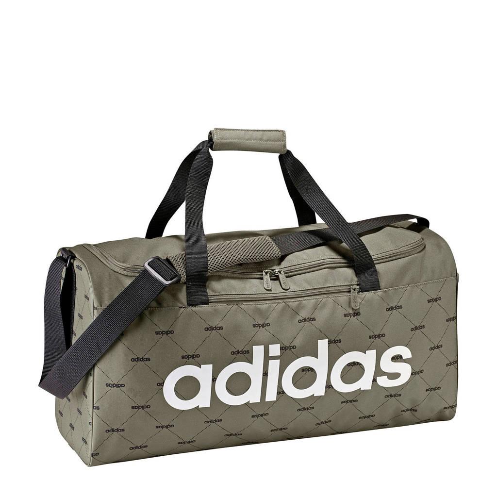 laatste mode goedkeuring prijzen veel modieus adidas performance Linear Duffel sporttas kaki groen   wehkamp