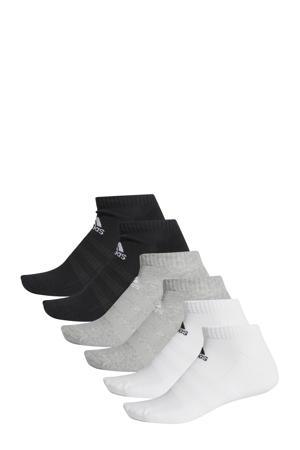 sokken - set van 6 grijs melange/wit/zwart