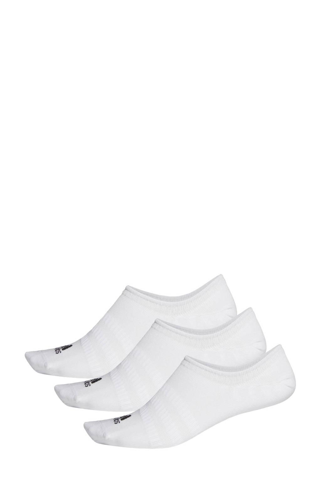 adidas Performance sneakersokken (set van 3) wit, Wit