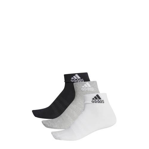 adidas performance sportsokken (set van 3) zwart/grijs/wit kopen