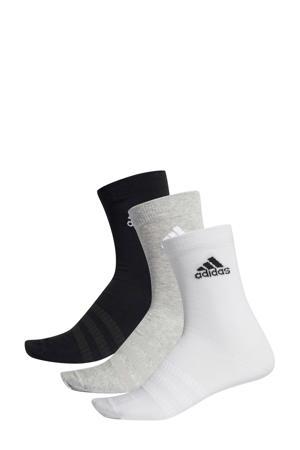 sportsokken (set van 3) zwart/grijs/wit